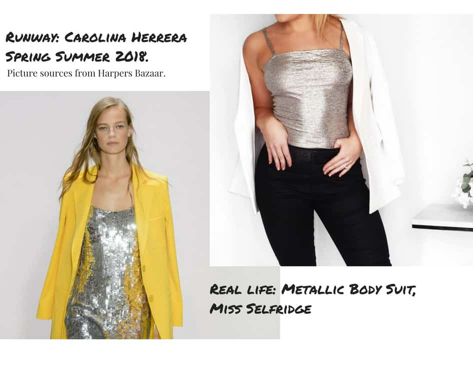 From runway to real life Spring fashion 2018 metallics