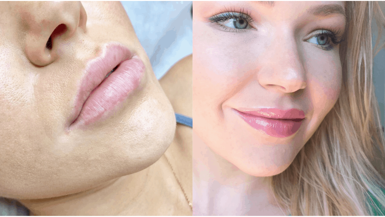 Permanent makeup and lip tattoo